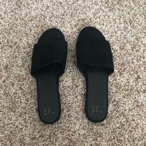 A New Day // Black Slides, Women's Size 10